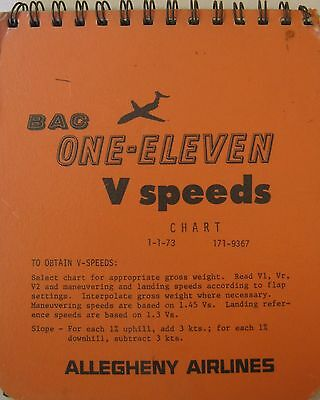 1973 Allegheny Airlines BAC One-Eleven V-Speeds
