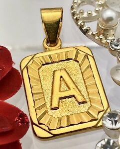 New! Gold coloured initials letter A pendant charm