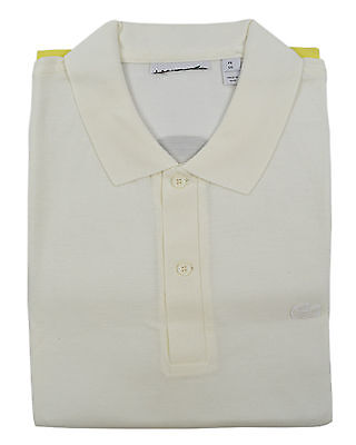 Lacoste Mens White Color block Striped Pique Polo Shirt Sz Fr 5 Us Large L