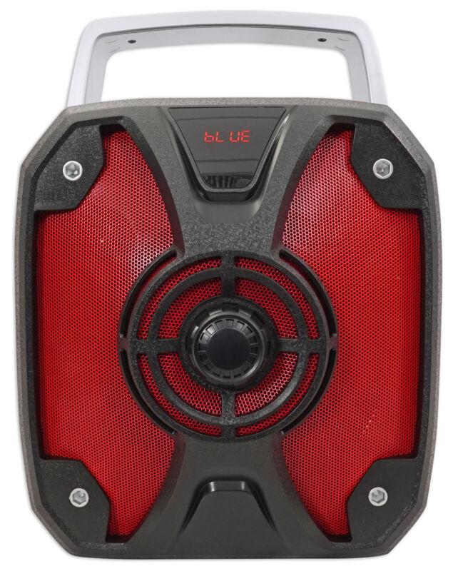 "Rockville ROCKBOX 6.5"" 100w Rechargeable Bluetooth Rugged Jobsite Speaker USB/SD"