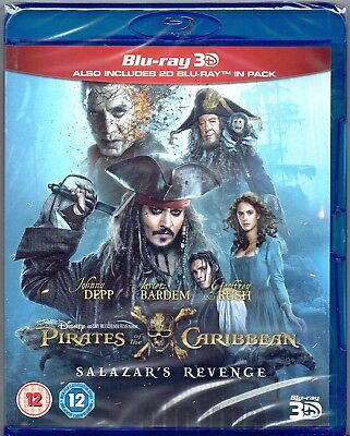 3D Blu Ray Pirates Of The Caribbean  Salazars Revenge  Dead Men Tell No Tales