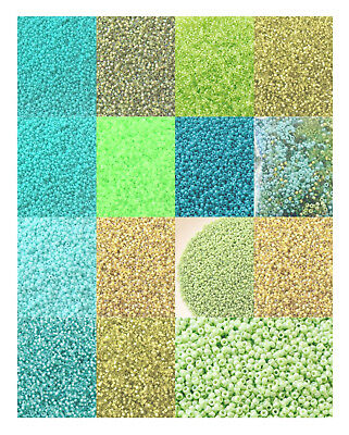 15/0 Japanese Seed Beads Glass Shades of Green Round-28 Grams-CHOOSE COLOR!!!