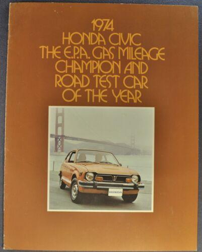 1974  Honda Civic Catalog Sales Brochure Sedan Hatchback Excellent Original 74