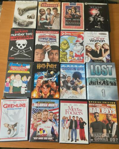 LOT of 100 Used DVD Assorted Movies - Bulk Wholesale DVDs Lot - Great Titles