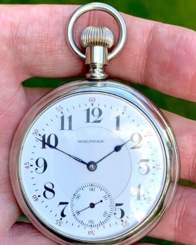 16s Waltham Gr 645 Railroad Pocket Watch w/ 21j~Adjusted 5 Positions~Circa 1908