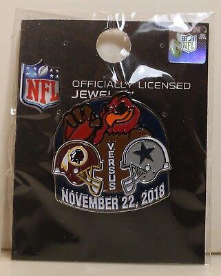 WASHINGTON REDSKINS VS DALLAS COWBOYS – NOVEMBER 22, 2018 – GAME DAY PIN – NEW - Redskin Vs Cowboys