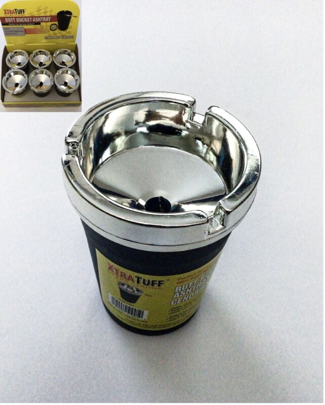 1 PC XTRATUFF BUTT BUCKET CAR ASHTRAY WITH LID FOR CAR CUP HOLDER