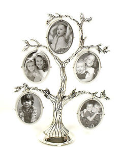 Family Tree Picture Silver Plated Photo Frame Gift - 75005