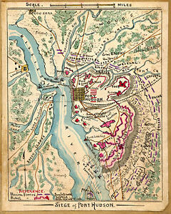 1861 MAP, Siege of Port Hudson, 16