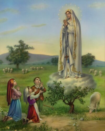 """Catholic print picture -  OUR LADY OF FATIMA  -   8"""" x 10"""" ready to be framed"""