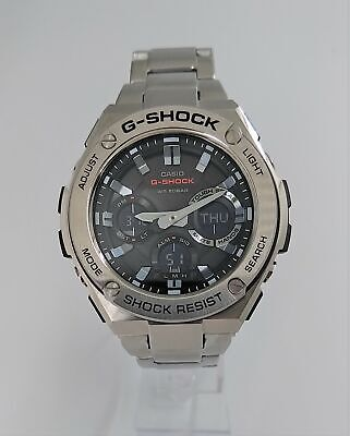 Casio Men's GSTS110D-1A G-Shock Solar Powered Ana-Digi Black Dial Dive Watch