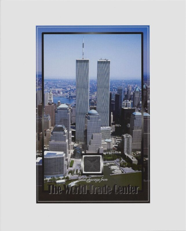 "TWIN TOWERS, World Trade Center, WTC, METAL SHAVINGS, New York City, NYC, 8""X10"""