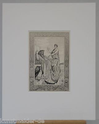 MAX KLINGER Orig. Radierung 096-pp: Jupiter und Venus