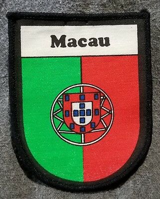 LMH PATCH Badge 1910 1999 MACAU Flag Portugal Portugal Ensign pre Republic China