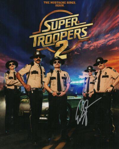 """Eric Stolhanske Autograph Signed 8x10 Photo - Super Troopers """"Rabbit""""(Zobie COA)"""