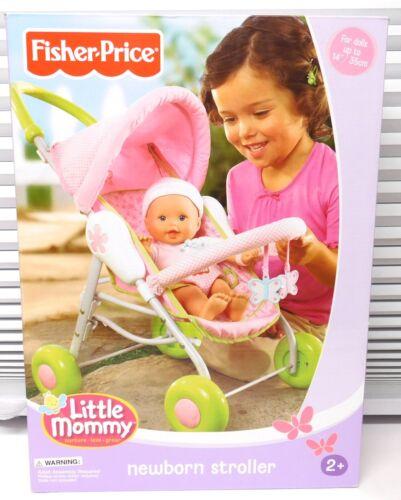 2004 New TOLLYTOTS Fisher Price Little Mommy Newborn STROLLER pink green NEW