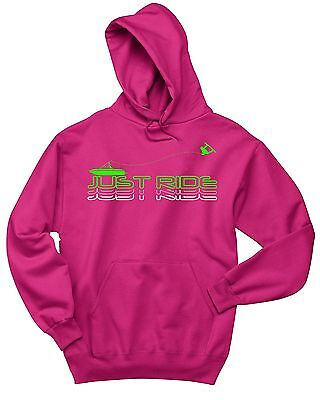 PINK JUST RIDE WOMENS WAKEBOARD BOAT HOODIE SWEAT SHIRT JUMPER LADIES WAKEBOARD Womens Hoodie Sweat