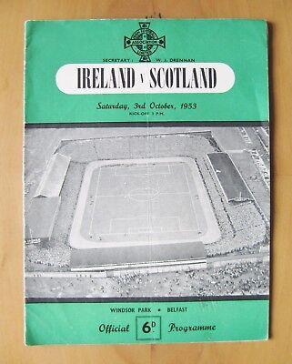 NORTHERN IRELAND v SCOTLAND 1953 *Good Condition With Bingham & McMichael Autos*