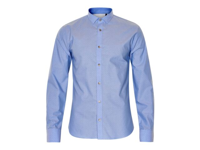 Matinique Allan Print Slim Shirt/Light Blue - 3XL SRP £74.95, NOW £35 SLIMFIT