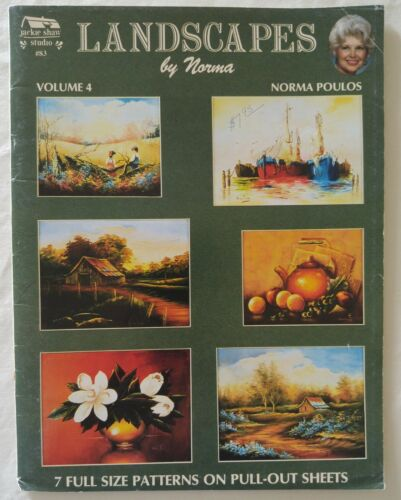 Jackie Shaw Decorative Painting Pattern Book LANDSCAPES Vol 4 by Norma Poulos