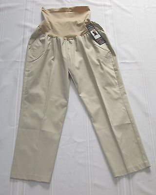 NEW Oh Baby by Motherhood Maternity Stretch Khaki Crop Pants Capris NWT $44.