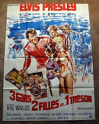 Vintage Original 1967 - ELVIS PRESLEY EasyComeEasyGo Movie Poster 1sh Film music