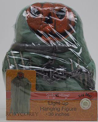 Light Up Pumpkins (Halloween Spooky Village 36 inch Pumpkin Light Up Hanging Figure Decoration)