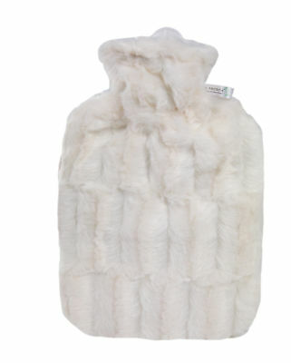 Hugo Frosch Wärmflasche weiß Bezug Wärmeflasche Klassik Soft Tierfelloptik