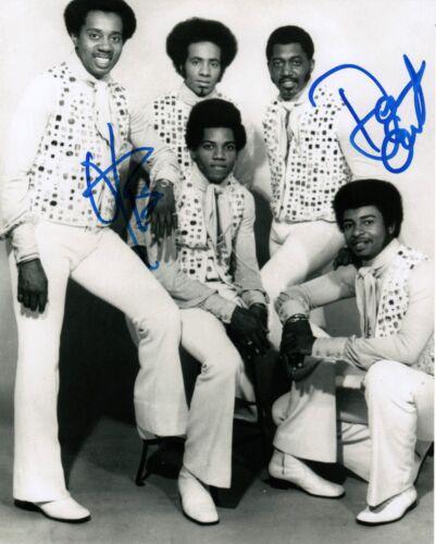 Otis Williams & Dennis Edwards of The Temptations REAL hand SIGNED Photo COA