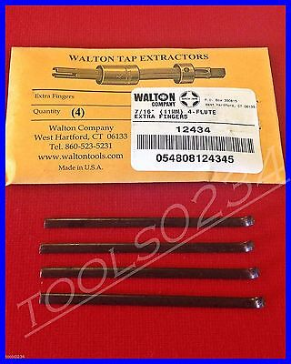 Walton 12434 Tap Extractor Set of 4 Replacement Fingers 7/16