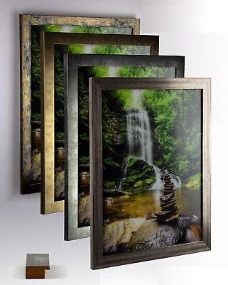 Bilderrahmen MDF Holz Juno Größenwahl DIN A Panorama USA Quadrat Puzzle Vintage - Bilderrahmen