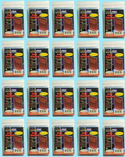 2000 Ultra Pro Standard Penny Soft Card Sleeves New Acid Free No PVC