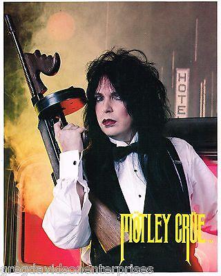 Mick Mars 8x10 Lithograph w Bio Motley Crue 1985 Theatre Of Pain