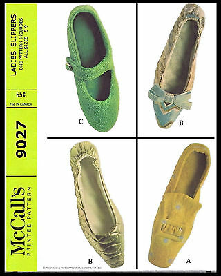 Mod Retro SHELL MARY JANE PILGRIM Slippers SHOES Fabric Sew Pattern McCALLS 9027 - Pilgrim Crafts