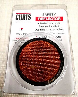 Chris Products RR1R Safety Reflectors AMBER - Screw-On 2.4