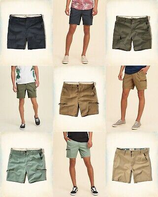 NWT Hollister by Abercrombie A&F men cargo , cargo beach prep fit  shorts all sz