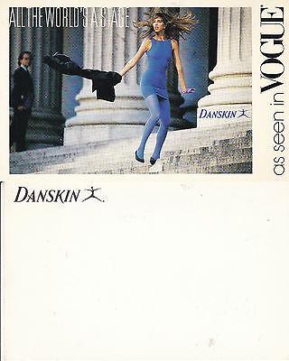 DANSKIN DANCEWEAR AS SEEN IN VOGUE UNUSED ADVERTISING COLOUR  POSTCARD