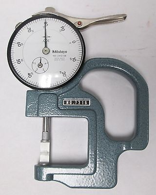 Mitutoyo 7316 Dial Thickness Gauge 0-.4
