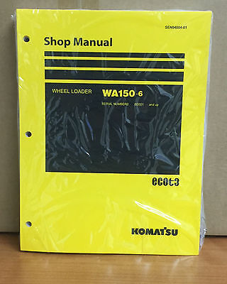 Komatsu Wa150-6 Wheel Loader Shop Service Repair Manual