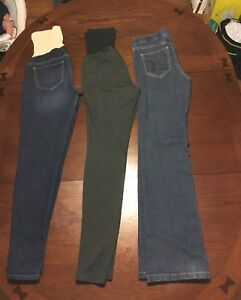 Lot of 6 pair Maternity jeans/pants size small and xs