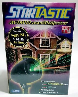 NEW Startastic Action LASER PROJECTOR Night Yard As Seen on TV Outdoor
