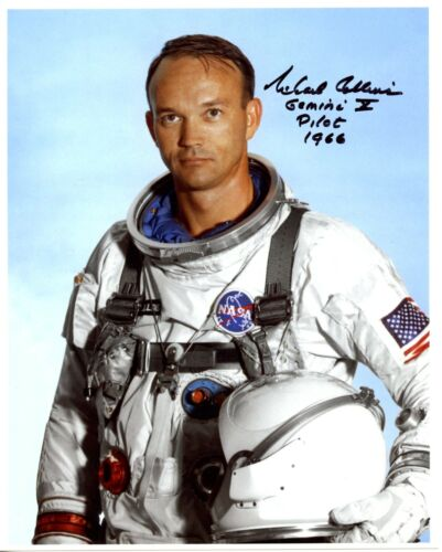 Astronaut Archives offers RARE Michael Collins  signed spacesuit glossy UNCOMMON