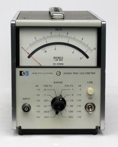 HP Keysight 3400A Analog RMS Voltmeter, 1mV-300V