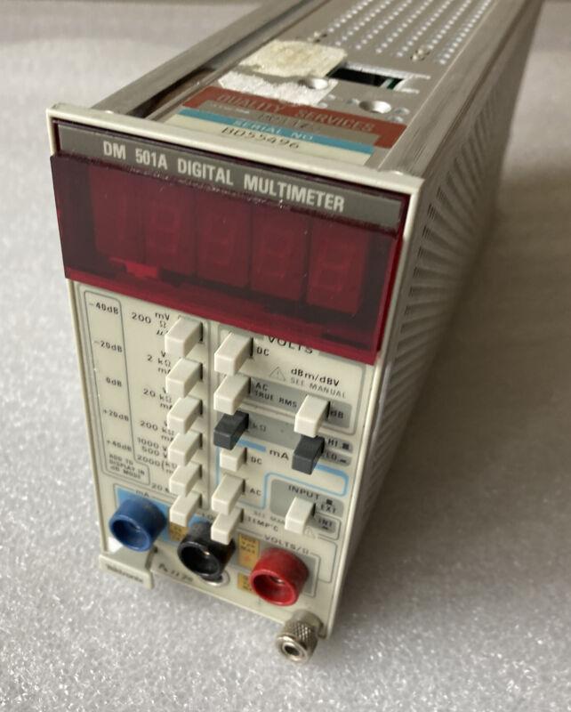 Tektronix TM 500 Series Plug-In Module DM 501A Digital Multimeter