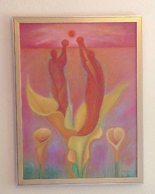 Mexico Mexican Artist Jorge Ochoa  Oil Painting  2007  Framed  25 5  X 19 5