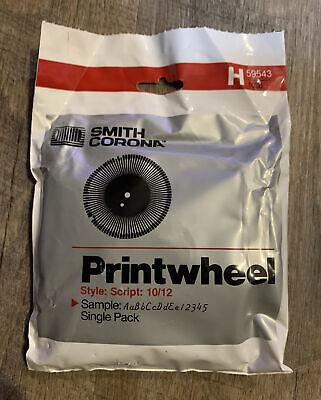 Smith Corona Typewriter Print Wheel Script 10 12 H59543 1038