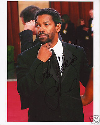 DENZEL WASHINGTON AUTOGRAPH SIGNED PP PHOTO POSTER