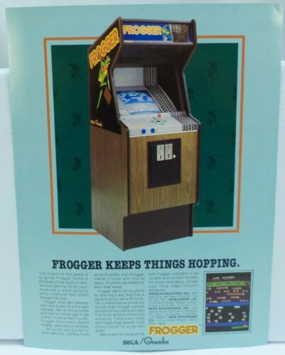 Sega/Gremlin FROGGER Original 1981 Arcade Game Machine Sales Flyer