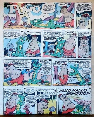 Pogo by Walt Kelly - large full tab page color Sunday comic - May 1, 1955](May Coloring Pages)