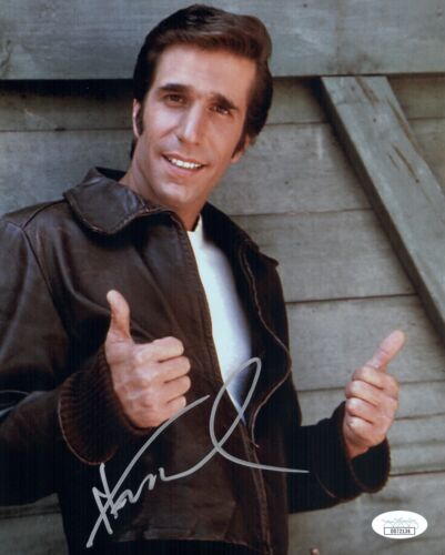 HENRY WINKLER Signed HAPPY DAYS The Fonz 8x10 Photo IN PERSON Autograph JSA COA